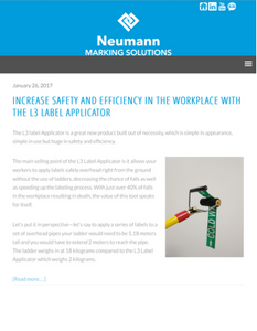 Neumann Marking Solutions Blog on Industrial Labeling Solutions