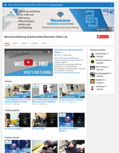 Neumann Marking Solutions You Tube Channel
