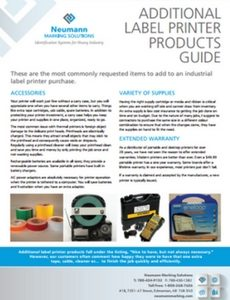 Additional Label Printer Products Guide