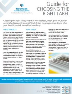 Guide for Choosing the Right Label