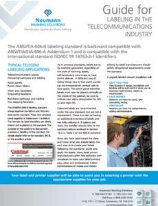 Guide for Labeling in the Telecommunications Industry