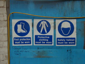 industrial warehouse safety labeling