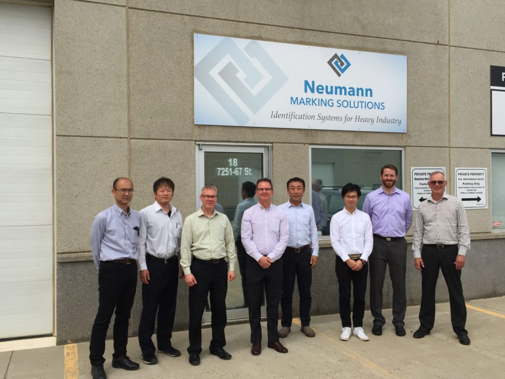 The Epson Label Writer Department visits Neumann Marking Solutions Edmonton Office